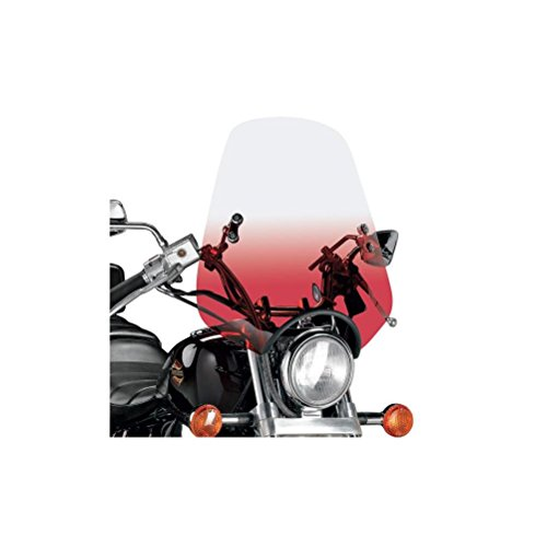 (Memphis Shades Classic Deuce Windshield With Handlebar Mounting Kit (GRADIENT RUBY) )