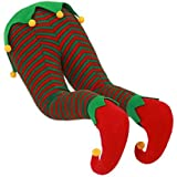 Christmas Santa, Elf, or Rudolph Hanging Legs for Fireplace or Christmas Tree (Elf)