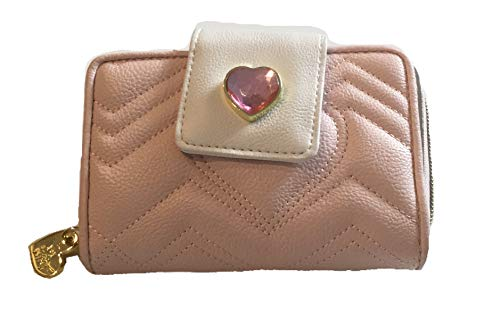 Betsey Johnson Ultimate Jewel Blush Mini Quilted Heart - Wallet Heart Quilted