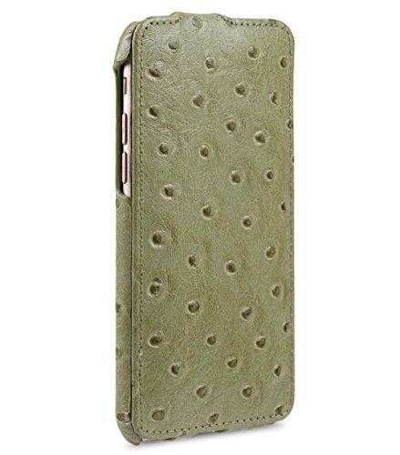 Melkco Jacka Type de Premium Leather Cases pour iPhone 6 - 4.7 pouce (Motif imprimé autruche - Olive Vert)