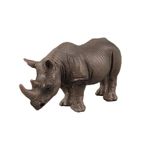 WY Weiyun Educational Toys -Rhinoceros Animal Model- Figurine Model -Ornament- Toy Figure for Kids-10 Styles Available (Little Rhino) ()