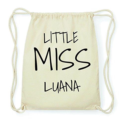 JOllify LUANA Hipster Turnbeutel Tasche Rucksack aus Baumwolle - Farbe: natur Design: Little Miss