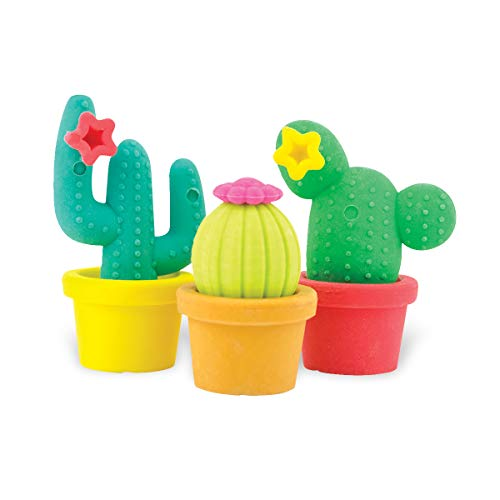 Ooly Prickly Pals Cactus Erasers - Set 3 Interconnecting Potted Cacti ()