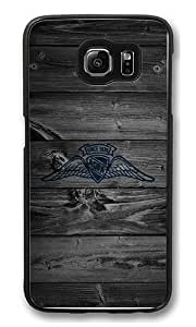Samsung Galaxy S6 Edge Case, S6 Edge Case - Hipster Design Dark Wood Aopa [Scratch-Resistant] [Perfect Fit] Protective Case Hard Back Bumper Case Cover for Samsung Galaxy S6