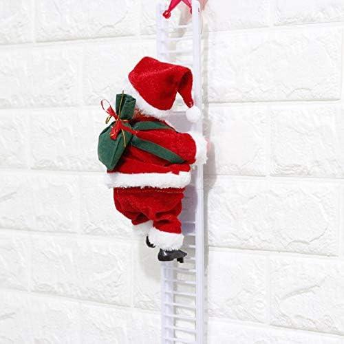 ALILEO 20 Cm De Escalada De Papá Noel con Escalera De Cuerda Decoraciones De Árboles De Navidad Al Aire Libre para El Hogar Mall Regalos De Año: Amazon.es: Hogar