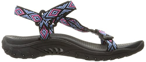 Flat Sandal Women's Out Reggae Decked Black Skechers Multi wOpq7Rn