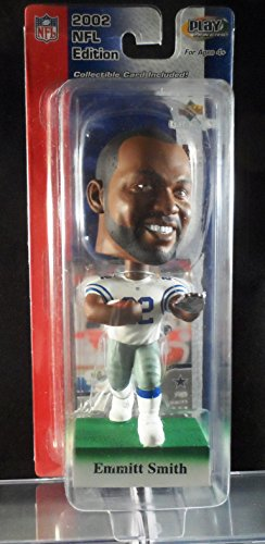 2002 Upper Deck Play Makers Emmitt Smith Dallas Cowboys White Jersey Bobblehead Smith Bobble Head