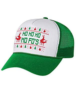 Tstars - Humping Reindeer HO Ho Mo Fo's Ugly Chirstmas Trucker Hat Mesh Cap