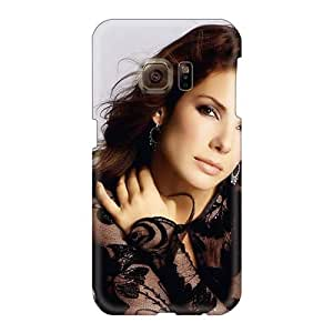 Protective Cell-phone Hard Covers For Samsung Galaxy S6 With Allow Personal Design Colorful Celebrity Sandra Bullock Skin JacquieWasylnuk