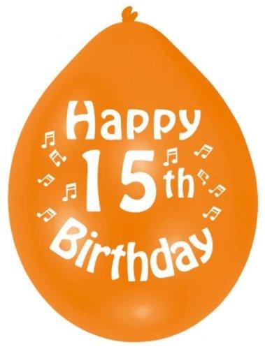 Amscan 228 Cm Happy 15th Birthday 10 Latex Balloons Amazoncouk