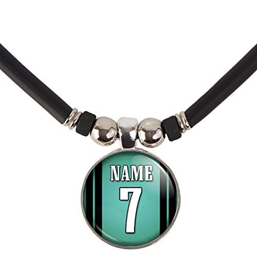 SpotlightJewels Personalized Football Jersey Necklace. Football Charm/Pendant Customized with Name and Number. Unisex Football Jewelry. (Available in 32 Styles) (Philadelphia) -