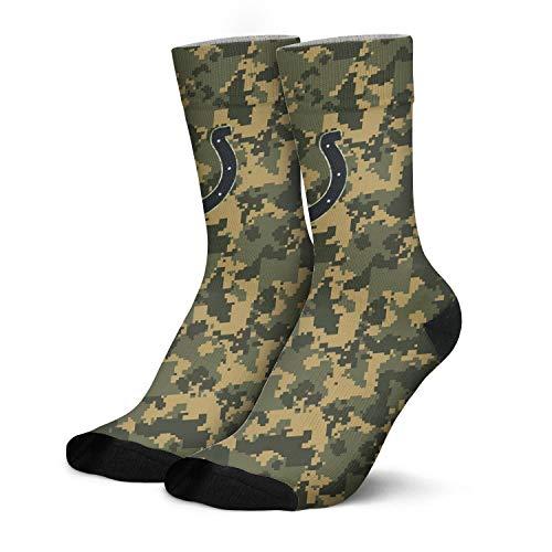 Mens Camo Athletic Socks Camouflage Long Crew Socks Printed (Indianapolis Colts Newborn Socks)