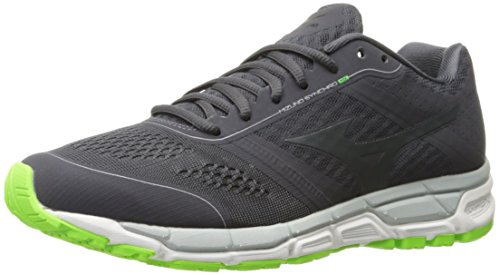 Mizuno Men's Synchro MX-M Cross-Trainer Shoe, Periscope/Dark Shadow/Green Gecko, 8.5 D US (Cross Mizuno Shoes Training Mens)