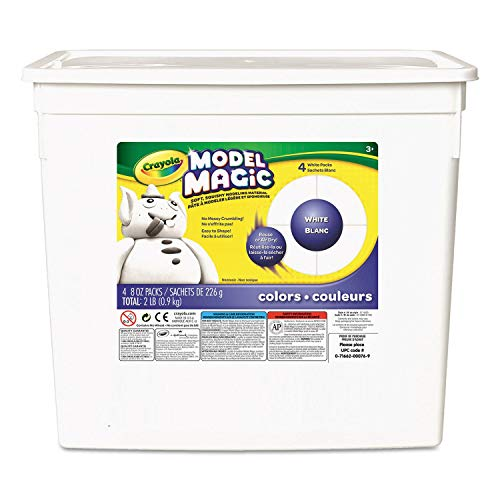 (Crayola Model Magic Modeling Compound, 8 oz each packet, White, 2 lbs.)