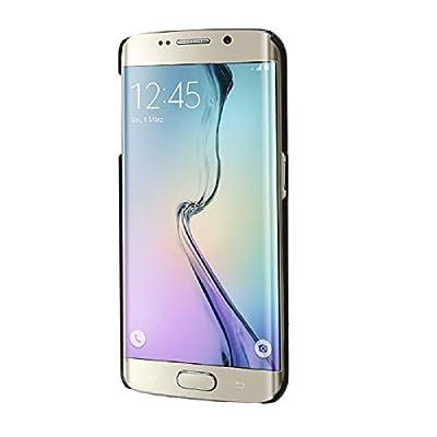 Tongshi para Samsung Galaxy S6 Edge(negro) Lujo cubierta de la caja del cristal del Rhinestone Diamond