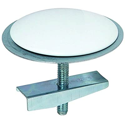 """BrassCraft BC7120 W 2"""" Diameter Sink Hole Cover with Bolt and Wing Nut in White"""
