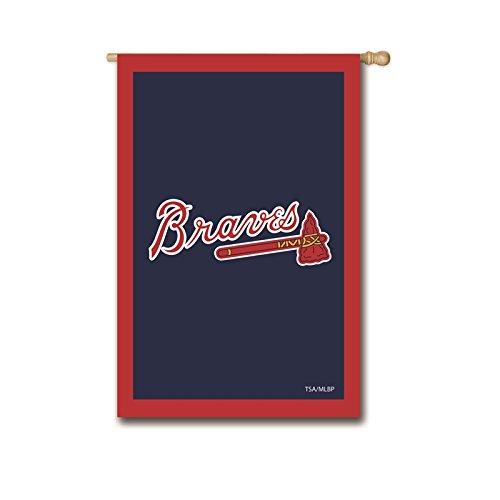 Ashley Gifts Customizable Applique Regular Flag, Double Sided, Atlanta Braves