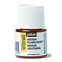 Pebeo 45 ml Vitrail Lightening Medium Stained Glass Effect Glass Paint, Transparent by Pebeo