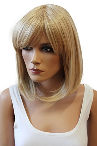 PRETTYSHOP BOB Page Wig Short Hair Straigh Heat-Resistant Blonde mix # 27T613 WB7 ()