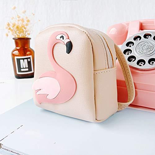 Qinlee Flamingo M/ünzb/örsen und Schl/üsselring Kinder Coin Purse Mini Geldb/örse Brieftasche Mode Zubeh/ör f/ür M/ädchen