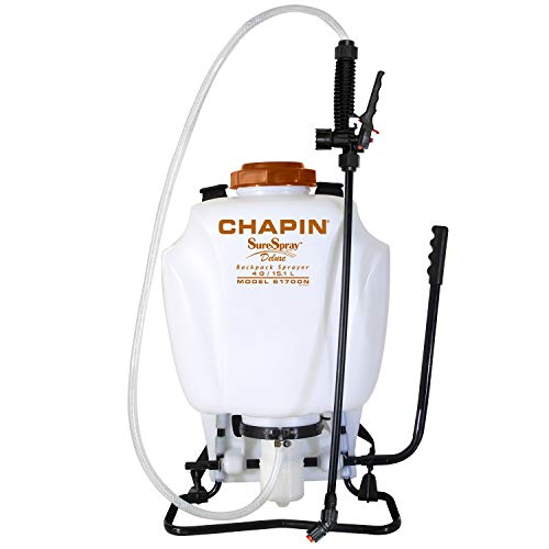 Chapin 61700N 4-Gallon SureSpray Backpack Sprayer For Fertilizer, Herbicides and Pesticides ()
