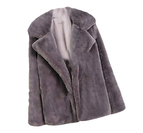 Coat Down Size Plus Howme Grey Women Color Turn Solid Collar Fluffy Fall Top qYTPT