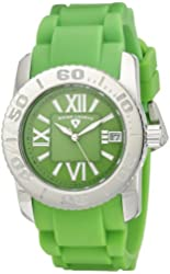 Swiss Legend Women's 10114-08 Commander Lime Green Dial Lime Green Silicone Watch