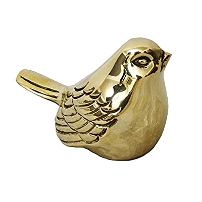 sankontran Handmade Metal Cast Brass Cute Bird Figurines Fluffed Sparrow Statue Wall Art Table Decor Ornament Two-Way Purpose Used for Home Decor(Style 1) - *1,this antique cute bird figurine size is3.15x1.6x1.6inches for each pcs,color is original brass color *2,Material of this miniature ornament is casting brass, 100% handmade by professional artist,can used both for wall art decor and table ornaments indoors and outdoors. *3,the chic collectible statue is ready and easy to hang or just put on the table,,really cute - living-room-decor, living-room, home-decor - 41tc7jlOygL. SS400  -
