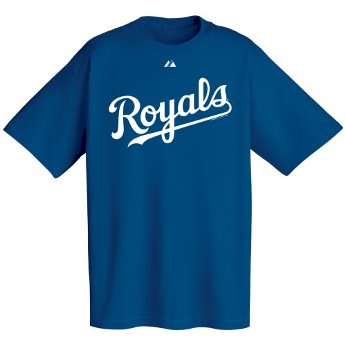 MLB Kansas City Royals Wordmark T-Shirt, Navy, Large ()