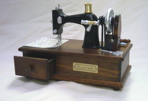 Musical – 4 ½ pulgada envejecido portátil máquina de coser de ...