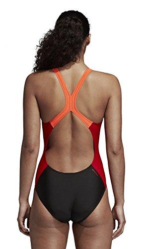 Piece Costume Fitness Da Bagno Donna Colorblock Nero Adidas 1 Rosso sole XqExwd16II