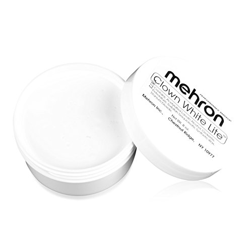 Mehron Makeup Clown White Lite (7 Ounces) - White Base Makeup