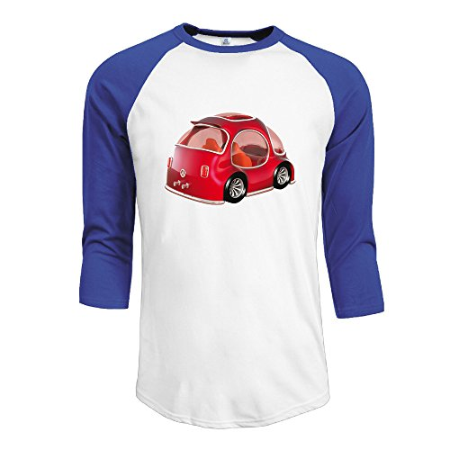 Mens VW Beetle 3/4 Sleeve\r\n T Shirt 100 Cotton Fitted Shirts (Vw Beetle Glove Box Latch)