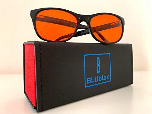 BLUblox Wayfarer Sleep+ 100% Blue/Green Light Blocking Glasses:  Amazon.co.uk: Business, Industry & Science