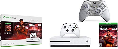 Microsoft Xbox One S 1TB NBA 2K20 Bundle + Gears 5 Kait Diaz Limited EditionWireless Controller | Include:Xbox One S 1TB Console ,NBA 2K20 Full-Game, Wireless Controller