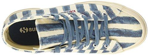 Superga 2795-Linstripesw, Zapatillas Altas para Mujer Multicolore (Off White/Azure)