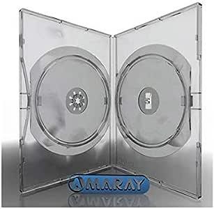 Caja dvd 14mm amaray 2 discos transparente pack 50: Amazon.es: Electrónica