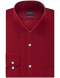 Men's Poplin Regular-Fit Solid Spread Collar Dress Shirt