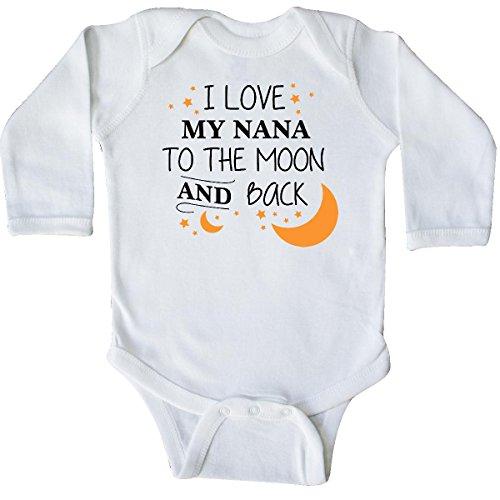 inktastic - I Love My Nana to The Moon Long Sleeve Creeper Newborn White 29679