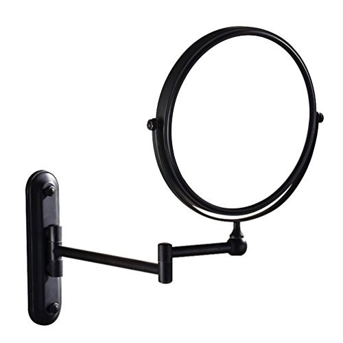 GURUN Wall Mounted Mirror Double Sided With 10X Magnification,Wall Mount Vanity Mirror Oil-Rubbed Bronze,No light,M1207O(8in,10x Magnification)