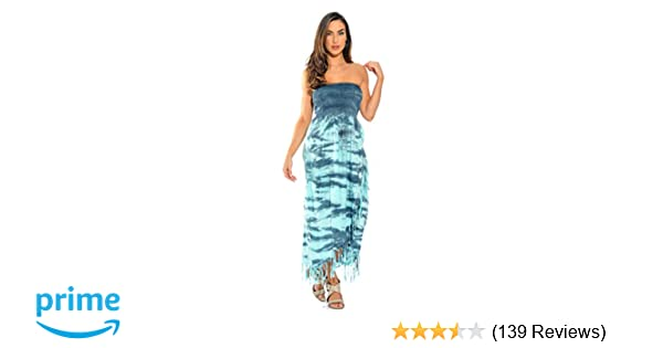225d900d343 Riviera Sun Tie Dye Smock Chest Sundresses for Women at Amazon ...