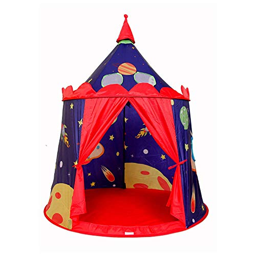 ALPIKA Castle Play Tent Indoor&Outdoor Kids Playhouse with Carrying Bag (Space Cowboy) -
