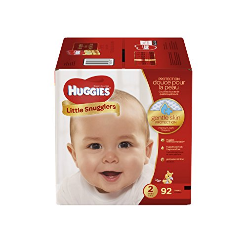 HUGGIES Little Snugglers Baby Diapers, Size 2, 92 Count