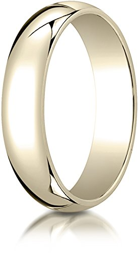 (Benchmark 14K Yellow Gold 5mm Slightly Domed Traditional Oval Wedding Band Ring, Size 5.5)