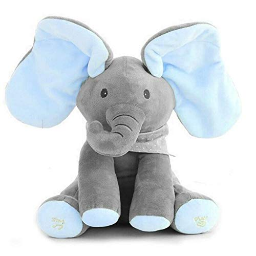 - Floppy The Peek A Boo Elephant, Interactive Plush Toy Sings & Plays Peek-A-Boo, Anti-Stress Stuffed Animal Doll for Infants, The Best Gift for Baby Showers, Toddler Birthdays, and Christmas