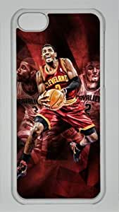 Kyrie Irving Cleveland Cavaliers #2 NBA Sports Custom PC Transparent Case for iPhone 5C hjbrhga1544