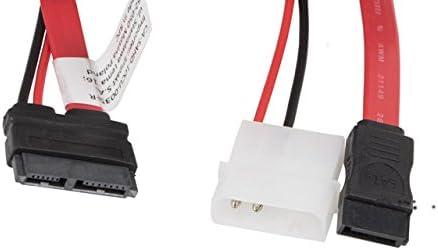 2/Pin /SAHD 10cu 0035/CD-R Molex Plug 13POL to SATA III lanberg ca/ Micro SATA 7pol Connector Cable Red