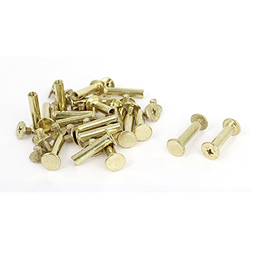 Scrapbook Leather Brass Plated 5x20mm Binding Chicago Screw Post 20pcs