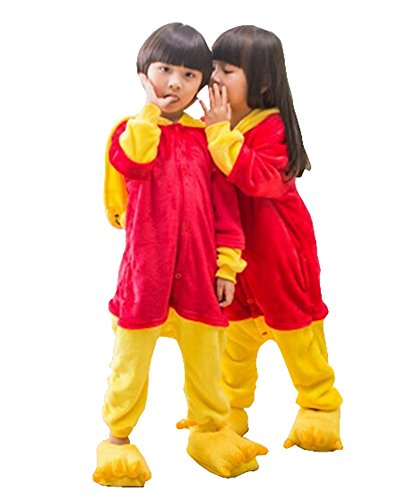 Cute Winnie The Pooh Costume (Kids Animal Costume Onesie Girls Boys Kigurumi Cosplay)