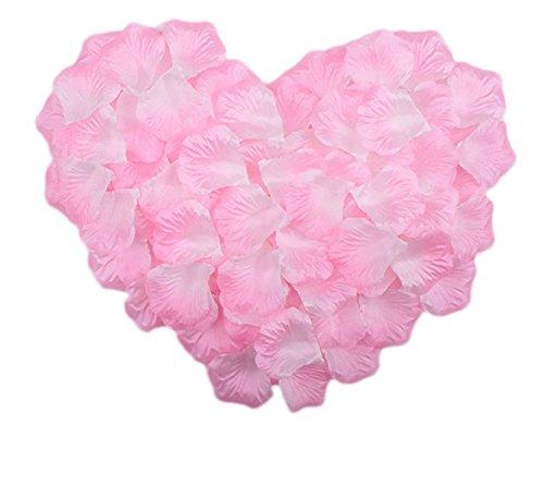 Freedi 500pcs Silk Rose Petals Fake Flower Wedding Party
